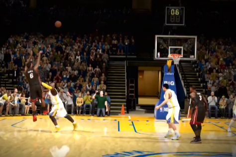 NBA 2K14 Recreates LeBron James' Game-Winning Shot vs. Warriors