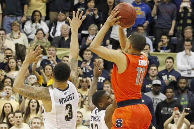 Fan Perspective of Syracuse's Tyler Ennis' Buzzer-Beater vs. Pitt Is Incredible