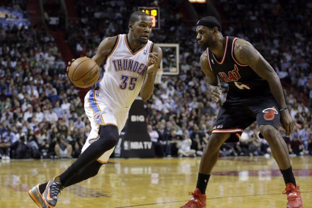 Can LeBron James Catch Kevin Durant During Home Stretch of 2014 NBA MVP Race?