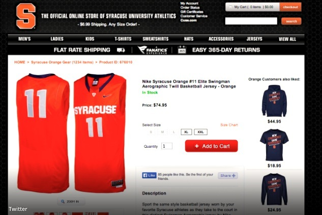 Syracuse Solicits Fans to Buy Tyler Ennis Jersey over Twitter