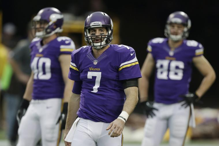 Christian Ponder Kisses a Goat for Valentine's Day