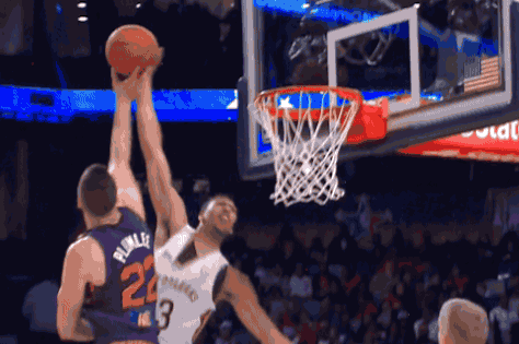 Miles Plumlee Rejects Anthony Davis During NBA Rising Stars Challenege