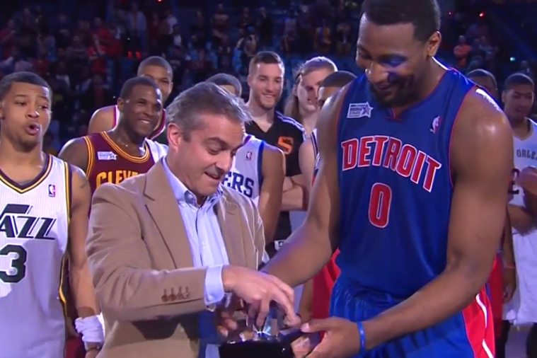 BBVA President and COO Fumbles NBA Rising Stars Challenge MVP Trophy