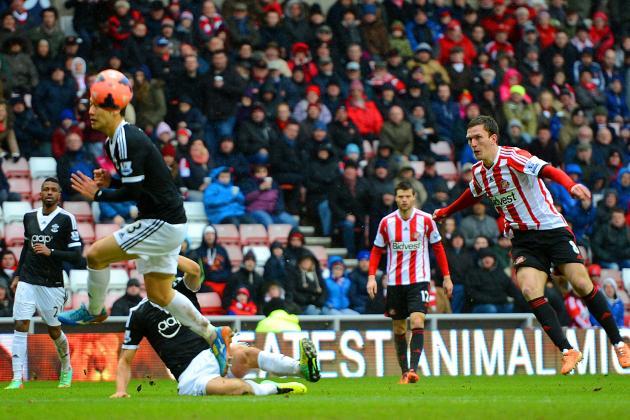 GIF: Craig Gardner Thunderbolt Goal Puts Sunderland in Front vs. Southampton