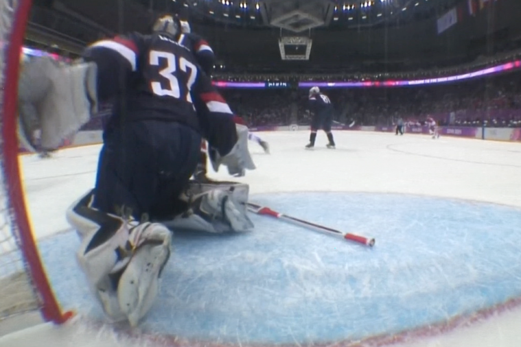 Russian's Go-Ahead Score Ruled No Goal Because Net Was Dislodged vs. USA