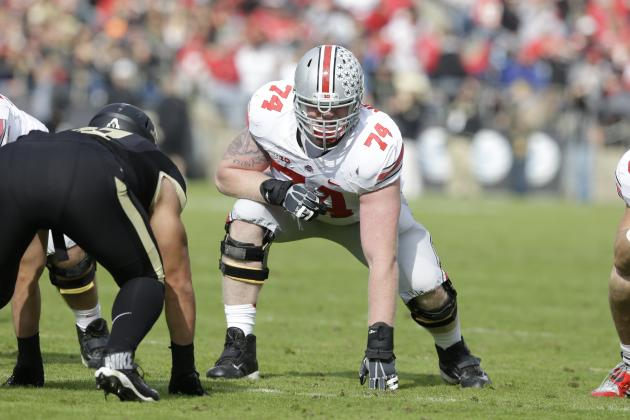 Jack Mewhort NFL Draft 2014: Highlights, Scouting Report for Colts LT