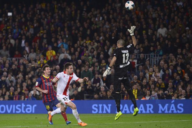Lionel Messi's Brilliant Chip Doubles Barcelona's Lead Against Rayo Vallecano