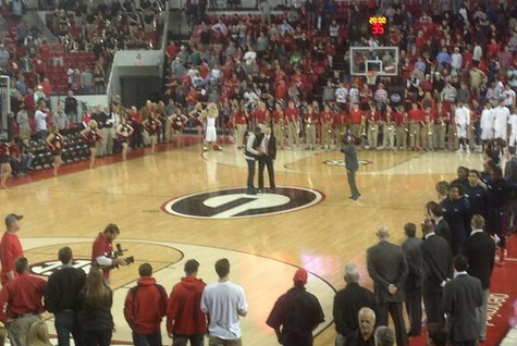 KCP Returns to UGA to Present Mark Fox with 200th Career Win Ball