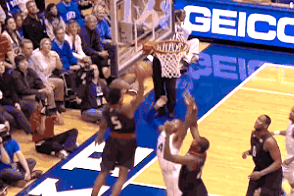Maryland's Nick Faust Throws Down Nasty Put-Back Dunk vs. Duke