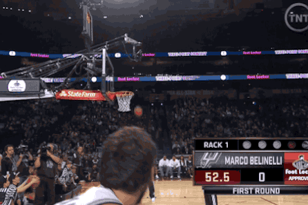 Marco Belinelli Air-Balls Shot During Three-Point Contest