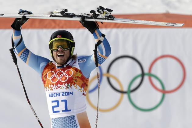 Olympic Alpine Skiing 2014: Men's Super-G Results, Medal Winners and Times