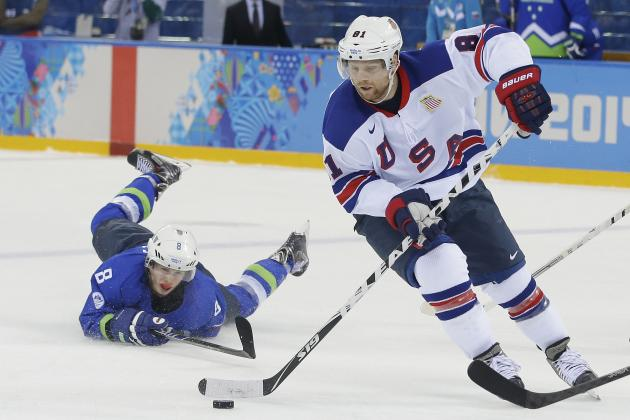 Analyzing Phil Kessel's Performance from USA vs. Slovenia at 2014 Olympics