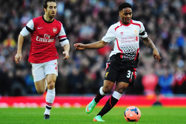 Arsenal vs. Liverpool: Live Player Ratings for the Gunners and the Reds
