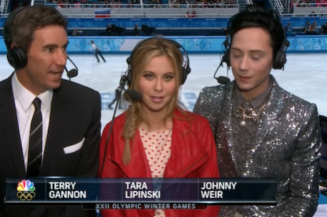 NBC Figure Skating Team of Tara Lipinski and Johnny Weir a Revelation at Dawn
