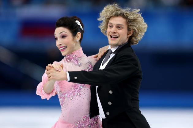 Meryl Davis and Charlie White in 1st Place After Ice Dancing Short Program