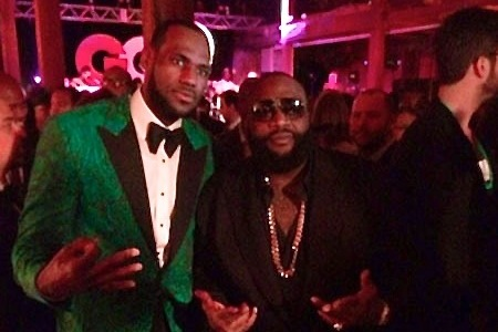 LeBron James Hosts Party for GQ, Goes on Stage with Rick Ross and Juvenile