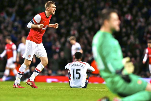 Arsenal Ride Luck to Keep Alive Most Realistic Chance to End That Trophy Drought