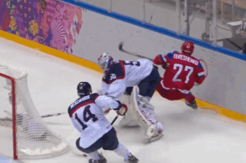 Slovakian Goalie Jan Laco Delivers Punishing Butt Check