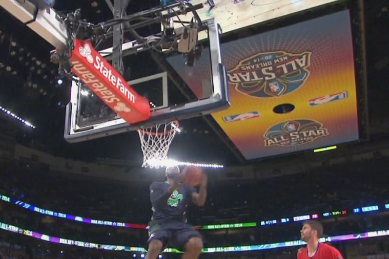 LeBron James Throws Down Exciting Jam to Start All-Star Game