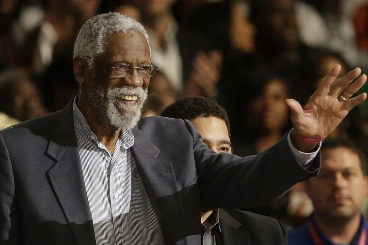 NBA Legends Sing 'Happy Birthday' to Bill Russell During NBA All-Star Game