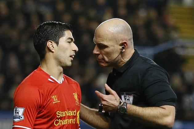Former Ref Blasts Howard Webb over Denying Luis Suarez a Penalty vs. Arsenal