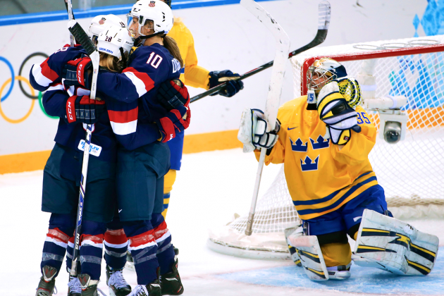 USA vs. Sweden Olympic Women's Hockey 2014: Live Score and Analysis