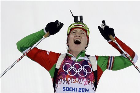 Biathlon Medal Results and Times from Olympic 2014 Women's 12.5km Mass Start