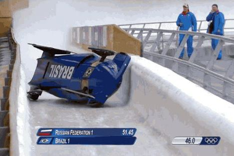 Brazilian Bobsled Team Somehow Avoids Serious Injuries After Scary Crash
