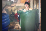 Bobsledder Takes Bath in Sochi Trashcan