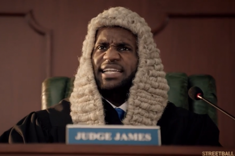 LeBron James Rules the Streetball Courts as 'Judge James' in Powerade Commercial