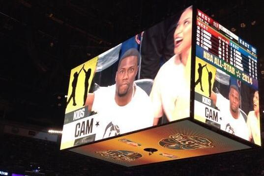 Kevin Hart Doesn't Look Thrilled to Be on 'Kids Cam' at 2014 NBA All-Star Game