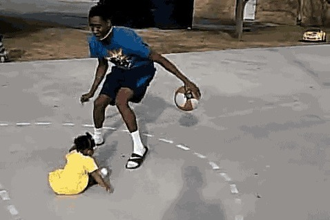 Baby Lacks Defensive Skills, Gets Ankles Broken