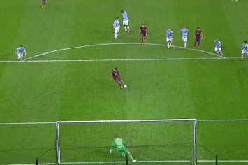 GIF: Lionel Messi Scores Pen for Barcelona vs. Man City, Demichelis Sent off