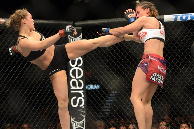UFC 170: Ronda Rousey Says 'My MMA Striking Is the Best in the Game'