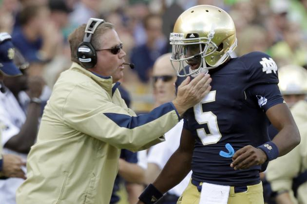 Notre Dame Football: Everett Golson's Relationship with New WRs Key to Spring