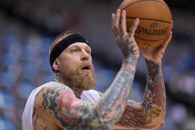 Miami Heat's Chris Andersen Trims Mohawk