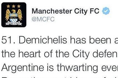Manchester City Delete Tweet Praising Martin Demichelis Moments Before Penalty
