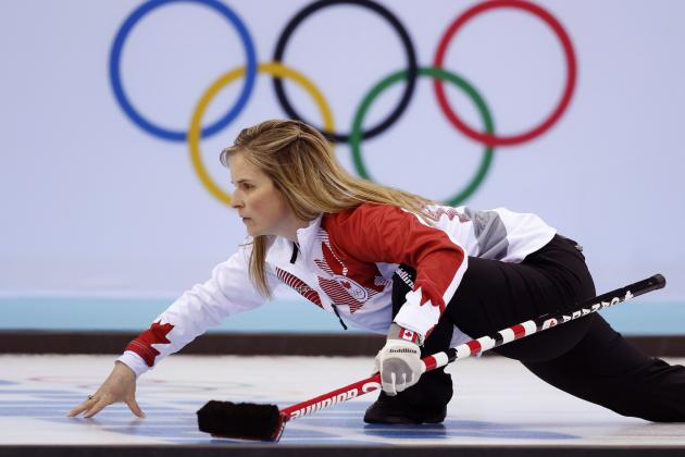 Curling Men and Women's Semifinals Results and Stones from Olympics 2014