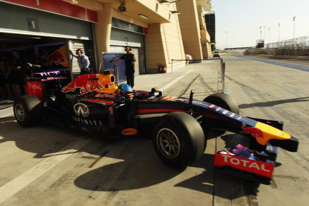 Red Bull Still Floundering on Day 1 of the 2nd Formula 1 Test in Bahrain