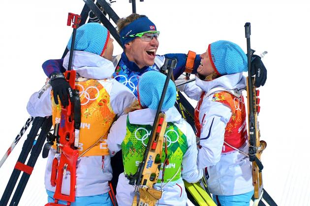 Biathlon Medal Results and Times from Olympic 2014 Mixed 2x6km, 2x7.5km Relay