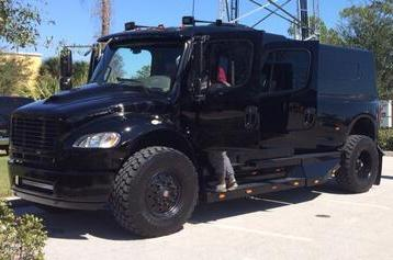 Rays Pitcher Grant Balfour Shows off Giant Truck at Spring Training