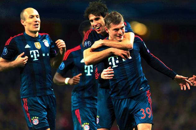 Arsenal vs. Bayern Munich: Champions League Live Score, Highlights, Report