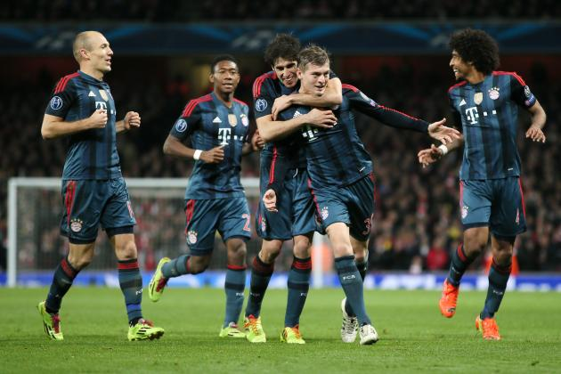 Arsenal vs. Bayern Munich: Live Player Ratings for Both Teams