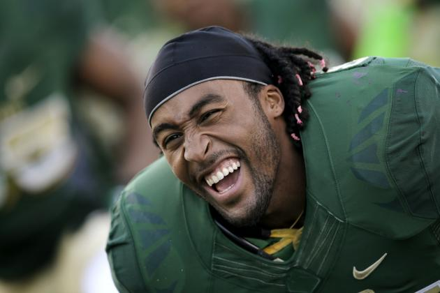 Blazing 40 at Combine Could Vault RB Lache Seastrunk into 1st Round of NFL Draft