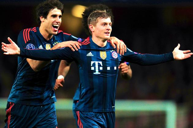 Toni Kroos Is Bayern Munich's Star as Arsenal Wilt Under Weight of His Passing