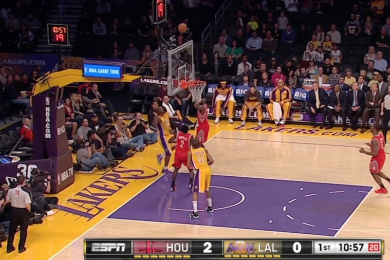 Lakers' Jodie Meeks Hits Circus Shot Against Rockets