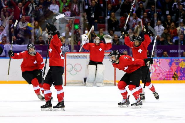 Swiss Beat SWE 4-3 to Win 1st Hockey Medal Ever