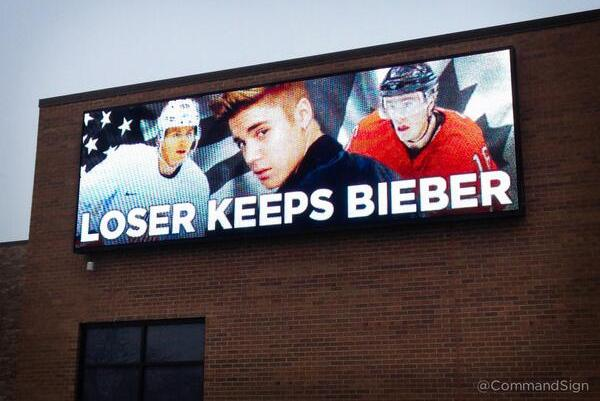 Billboard Proposes Wager Involving Justin Bieber for USA-Canada Semifinals Game