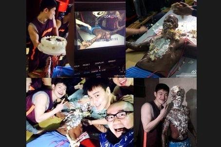 Stephon Marbury Has Cake Slammed into His Body for His 37th Birthday in China