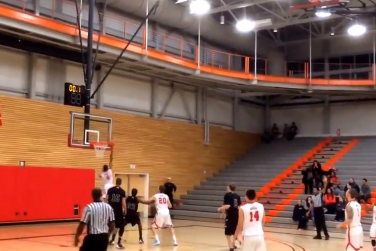 College Basketball Player Recovers Air Ball for Game-Winning Layup